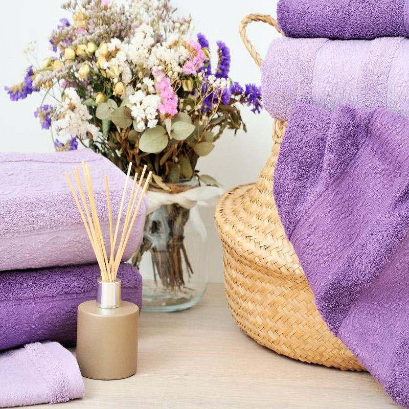 Decoración lavanda para el baño
