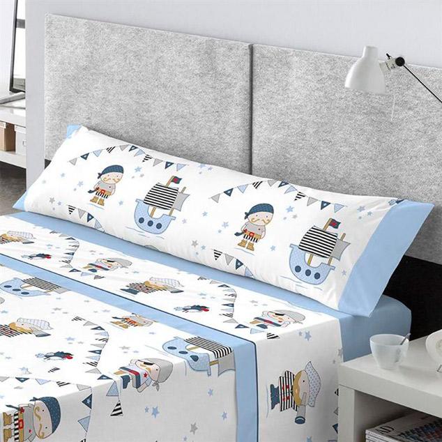 Ropa de cama infantil con dibujos de piratas