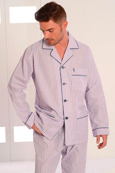 Colección de pijamas de tela para hombres