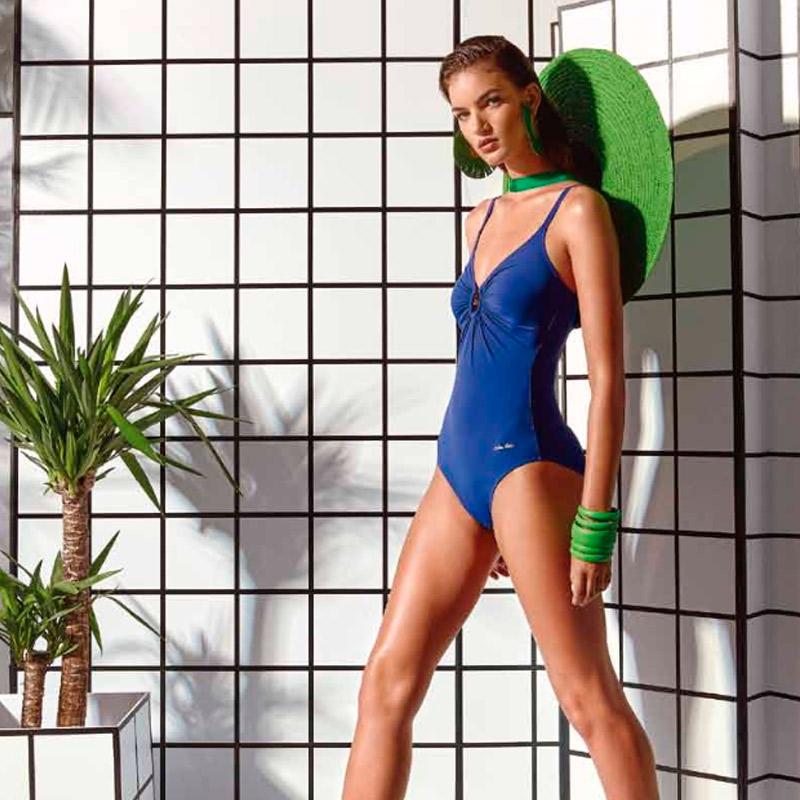 Bañador de mujer ne color azul klein