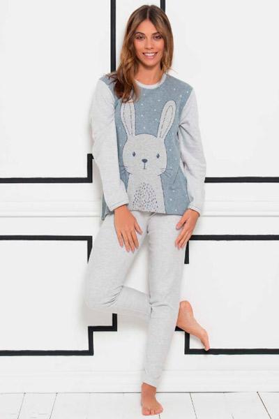 Pijama para mujer con dibujo de conejo