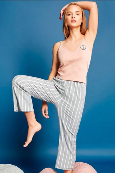 Pijama pantalón largo para mujer