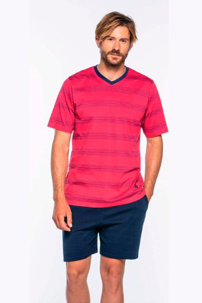 Pijama corto hombre rojo