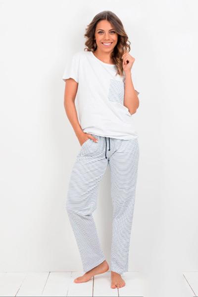 Pijama largo mujer estilo chandal
